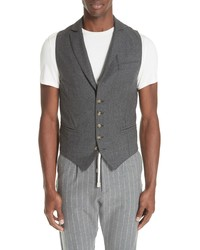 Eleventy Trim Fit Stretch Wool Vest