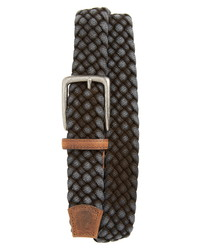 Charcoal Woven Canvas Belt
