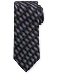 Eton Woven Two Tone Textured Neat Silk Tie Gray