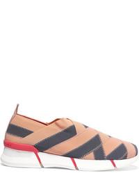 Stella McCartney Woven Grosgrain Sneakers Anthracite
