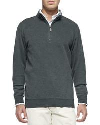 Charcoal Zip Neck Sweater