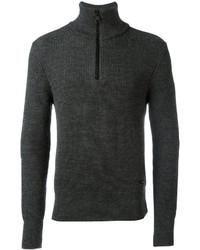 Fisherman rib half zipped sweater medium 4394520