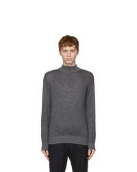 Loro Piana Grey And Navy Woodmere Sweater