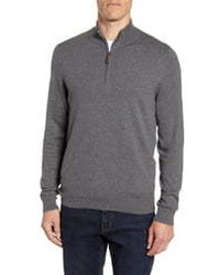 Nordstrom Men's Shop Half Zip Cotton Cashmere Pullover