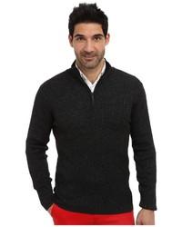 DKNY Jeans Ls 14 Zip Rib Marl Mock Neck Sweater