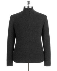 DKNY Jeans Quarter Zip Ribbed Sweater