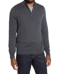 Nordstrom Men's Shop Quarter Zip Cashmere Sweater