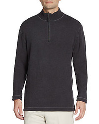 Saks Fifth Avenue Reversible Quarter Zip Pullover
