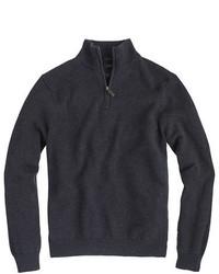 Slim cotton cashmere half zip sweater medium 333781