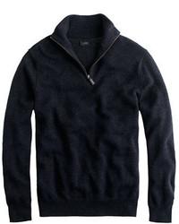 Tall cotton cashmere half zip sweater medium 753993
