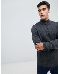 Pier One Wool Jumper In Grey Marl