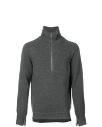 Burberry Zip Neck Sweater