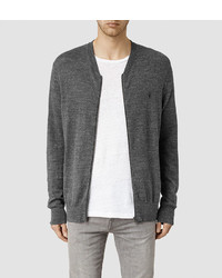 AllSaints Rosso Zip Through Sweater