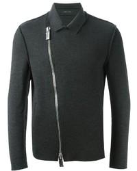 Emporio Armani Off Centre Zipped Cardigan