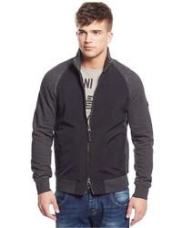 Armani Jeans Mixed Media Zip Sweater