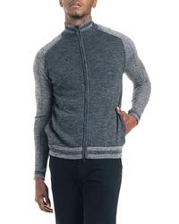 Good Man Brand Modern Slim Fit Merino Wool Track Jacket
