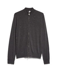 Eleventy Zip Front Merino Sweater