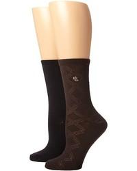Chaussettes brunes foncées Lauren Ralph Lauren