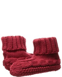Chaussettes en tricot rouges Lauren Ralph Lauren