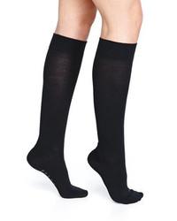 Chaussettes montantes noires Falke