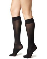 Chaussettes montantes noires Wolford
