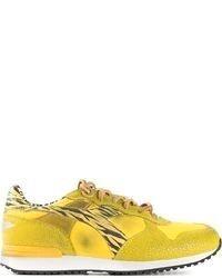 Chaussures de sport jaunes Diadora