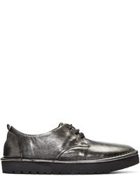 Chaussures derby en cuir argentées Marsèll Gomma