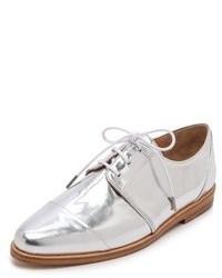 Chaussures derby en cuir argentées Thakoon