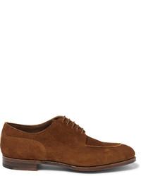 Chaussures derby en daim brunes Edward Green