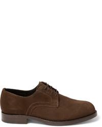 Chaussures derby en daim brunes Officine Generale