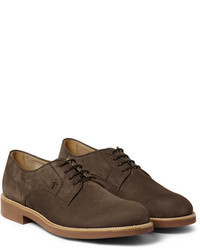 Chaussures derby en daim marron