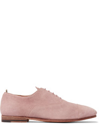 Chaussures derby en daim violet clair Officine Creative
