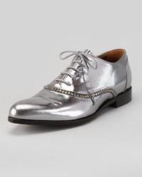 Chaussures richelieu argentées
