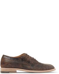 Chaussures richelieu en cuir brunes Maison Margiela