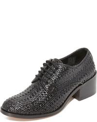 Chaussures richelieu en cuir noires Jeffrey Campbell