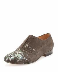 Chaussures richelieu en daim grises Maison Margiela