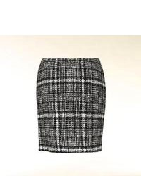 Check Wool Mini Skirt