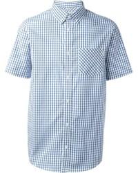 Acheter chemise à manches courtes à carreaux bleue claire hommes ... e0920f2a29c