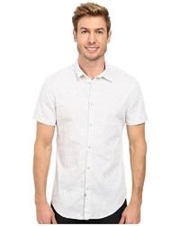 Chemise à manches courtes á pois blanche Calvin Klein Jeans