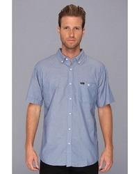 Chemise à manches courtes en chambray bleue Brixton