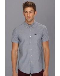 Chemise à manches courtes grise RVCA