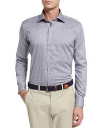 Chemise à manches longues bleue Peter Millar