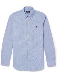 Chemise à manches longues bleue Polo Ralph Lauren