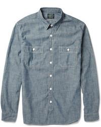 Chemise à manches longues en chambray bleue J.Crew