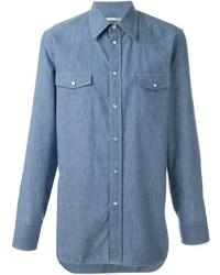Chemise à manches longues en chambray bleue Marc Jacobs