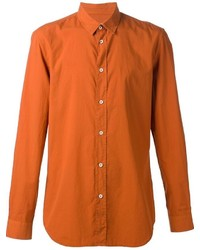 Chemise à manches longues orange Maison Margiela