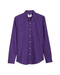 Chemise à manches longues violette