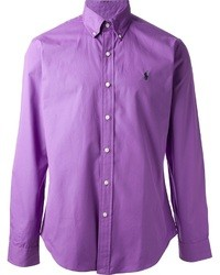 Chemise à manches longues violette Polo Ralph Lauren