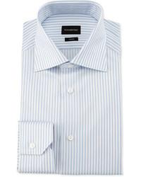 Chemise de ville à rayures verticales blanche Ermenegildo Zegna