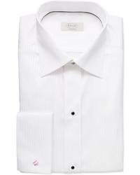 Chemise de ville à rayures verticales blanche Eton